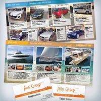 Рекламные листовки и визитки для Alis Group
