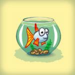 Gif баннер, рекламирующий изготовление аквариумов