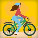 Реклама надежных велосипедов с вечными шинами
