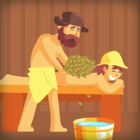 Анимационный GIF баннер для рекламы заказа банщиков
