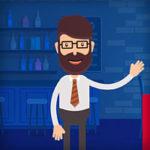 Анимационный Flat видеоролик для рекламы спутникового ТВ