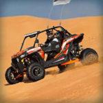 Баннерная реклама багги-туров в пустынях города Дубай