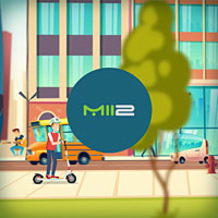 Анимационный видеоролик для рекламы электросамокатов