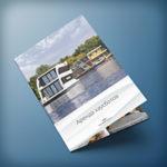 Дизайн рекламного буклета A4 по аренде хаусботов