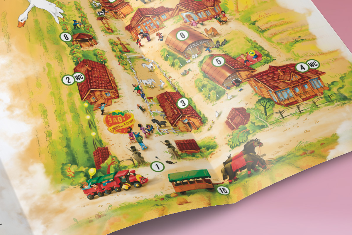 Разработка рисованной карты-навигации для Контактной Деревни